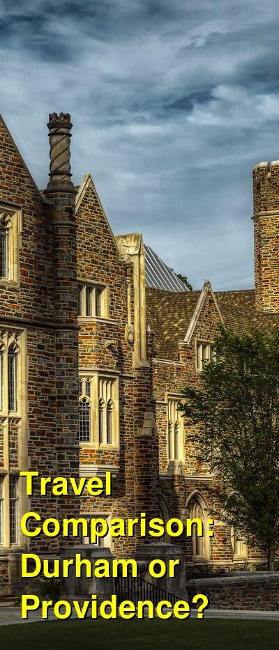 Durham vs. Providence Travel Comparison