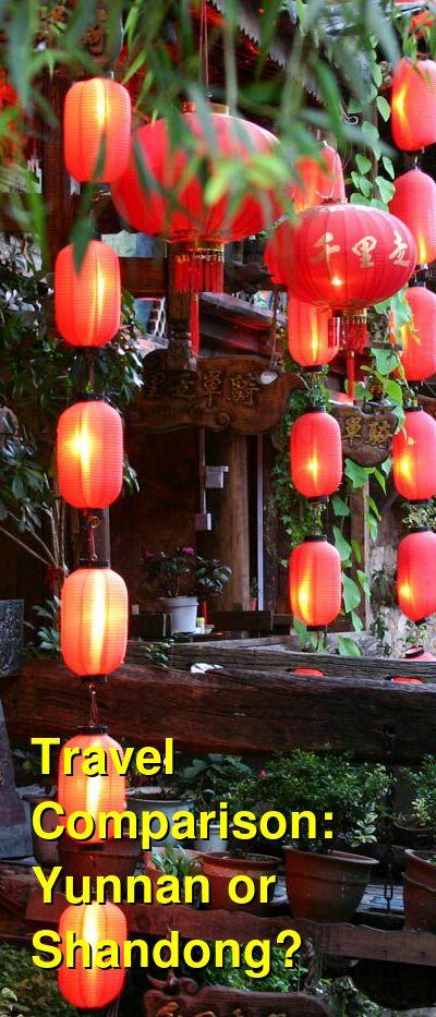 Yunnan vs. Shandong Travel Comparison