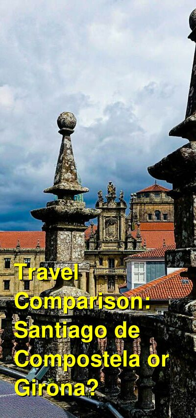 Santiago de Compostela vs. Girona Travel Comparison
