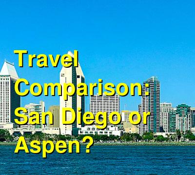 San Diego vs. Aspen Travel Comparison