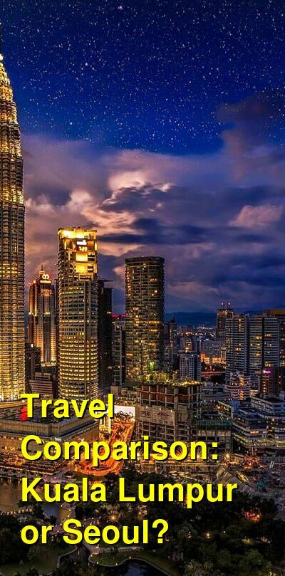 Kuala Lumpur vs. Seoul Travel Comparison
