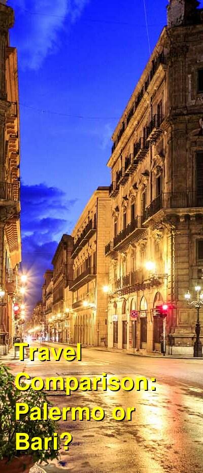 Palermo vs. Bari Travel Comparison