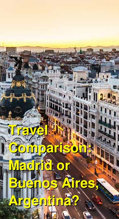 Madrid vs. Buenos Aires, Argentina Travel Comparison