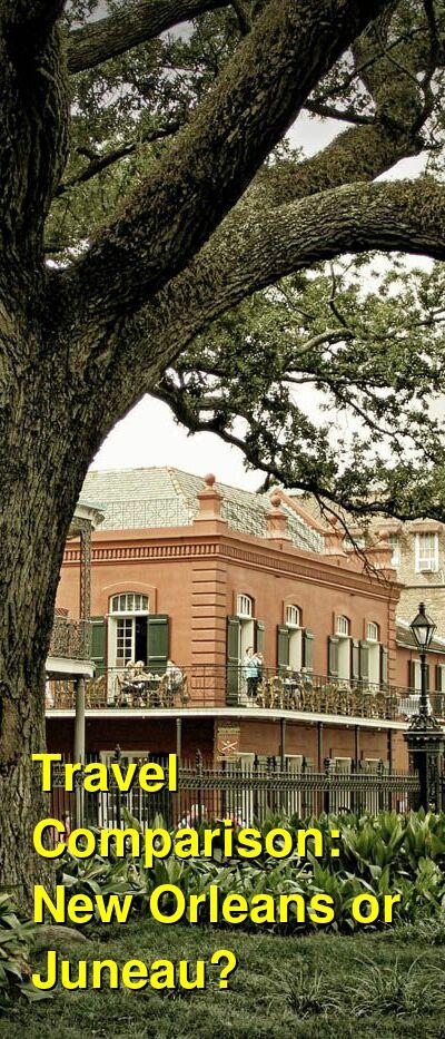 New Orleans vs. Juneau Travel Comparison