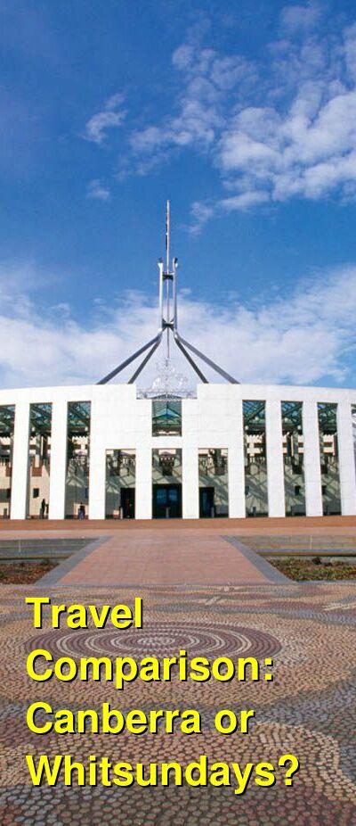Canberra vs. Whitsundays Travel Comparison