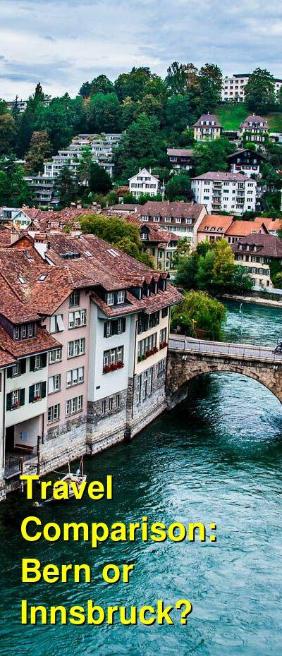 Bern vs. Innsbruck Travel Comparison