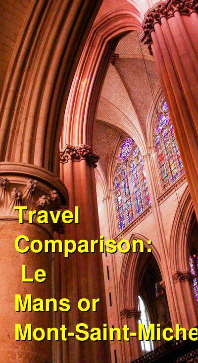 Le Mans vs. Mont-Saint-Michel Travel Comparison