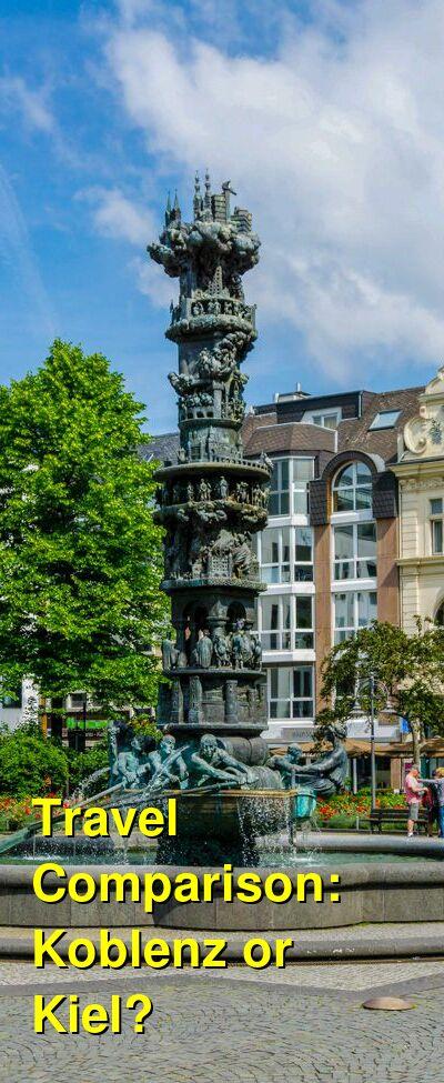 Koblenz vs. Kiel Travel Comparison