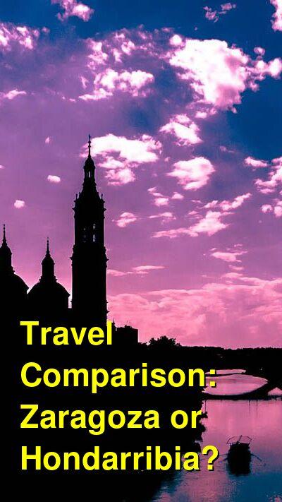 Zaragoza vs. Hondarribia Travel Comparison