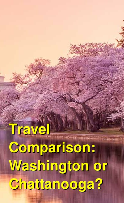 Washington vs. Chattanooga Travel Comparison