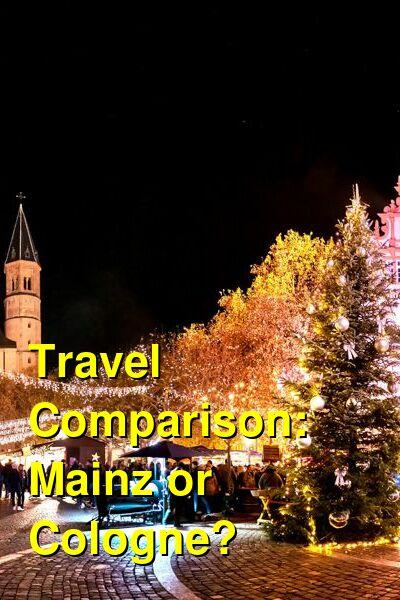 Mainz vs. Cologne Travel Comparison