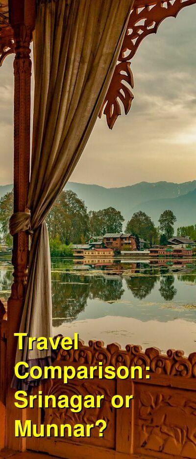 Srinagar vs. Munnar Travel Comparison