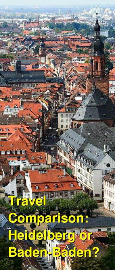 Heidelberg vs. Baden-Baden Travel Comparison