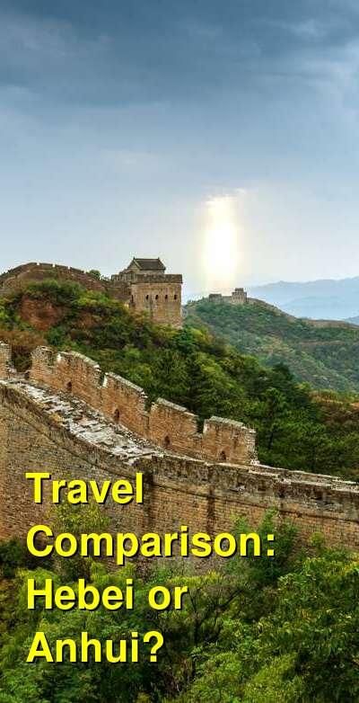 Hebei vs. Anhui Travel Comparison