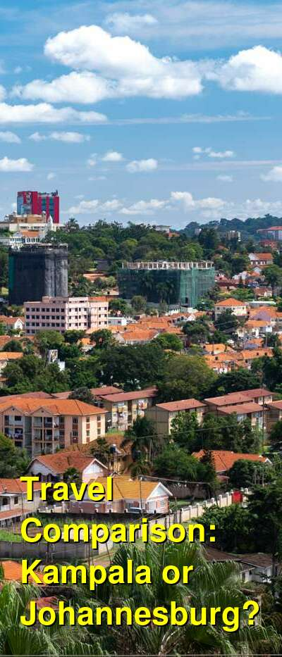 Kampala vs. Johannesburg Travel Comparison