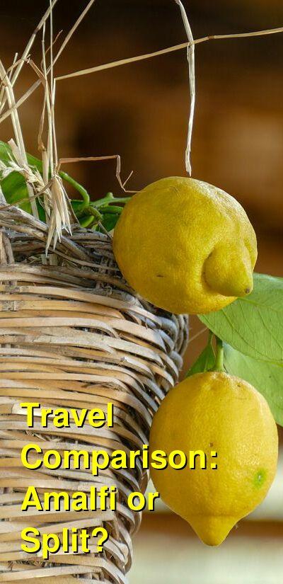 Amalfi vs. Split Travel Comparison