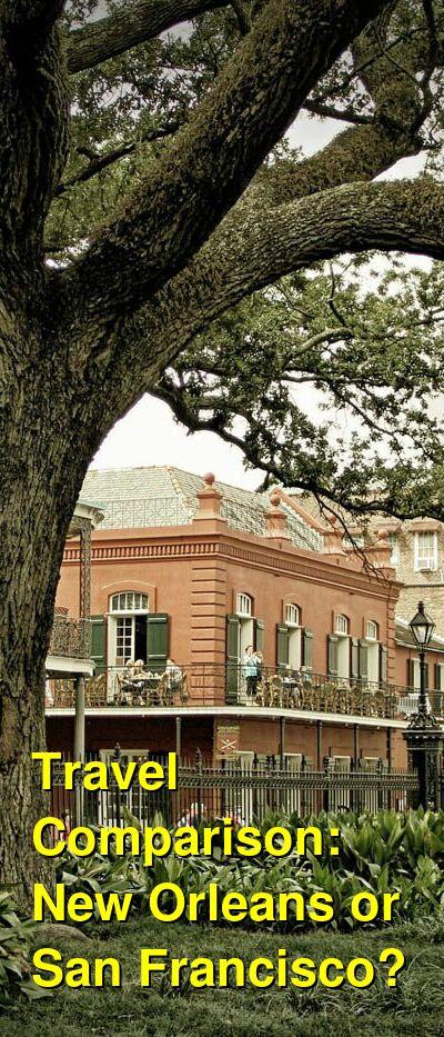 New Orleans vs. San Francisco Travel Comparison