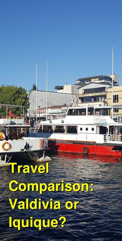 Valdivia vs. Iquique Travel Comparison