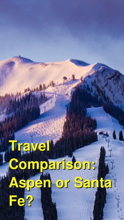Aspen vs. Santa Fe Travel Comparison