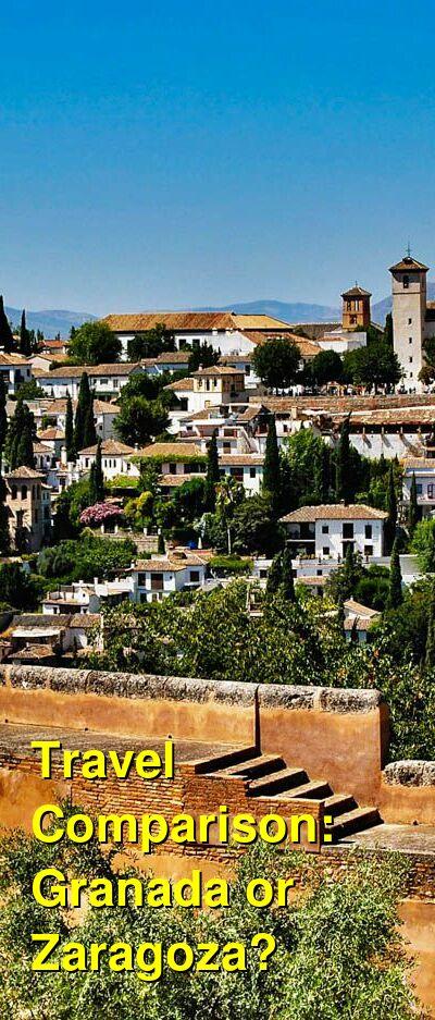 Granada vs. Zaragoza Travel Comparison
