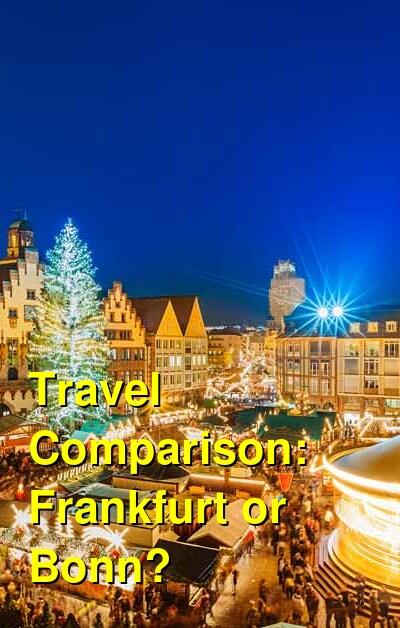Frankfurt vs. Bonn Travel Comparison