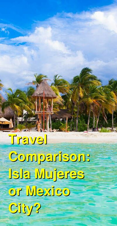 Isla Mujeres vs. Mexico City Travel Comparison