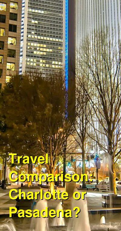 Charlotte vs. Pasadena Travel Comparison