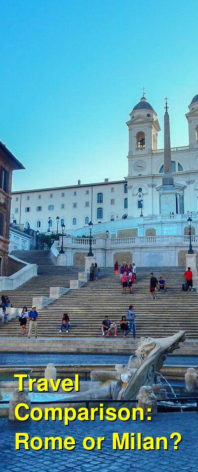 Rome vs. Milan Travel Comparison