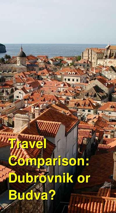 Dubrovnik vs. Budva Travel Comparison