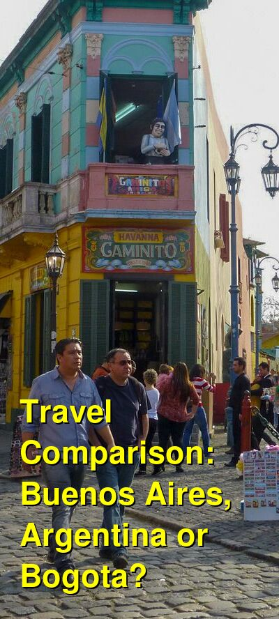 Buenos Aires, Argentina vs. Bogota Travel Comparison