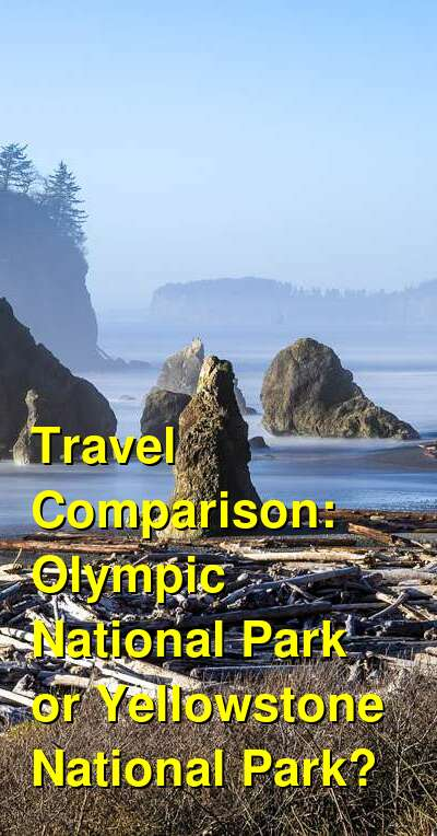 Olympic National Park vs. Yellowstone National Park Travel Comparison