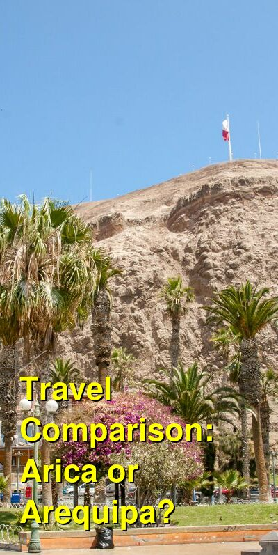 Arica vs. Arequipa Travel Comparison