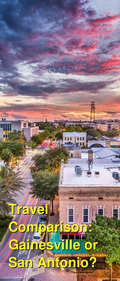 Gainesville vs. San Antonio Travel Comparison