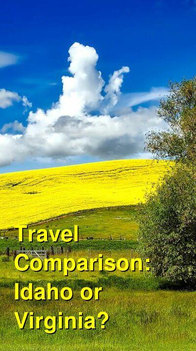 Idaho vs. Virginia Travel Comparison