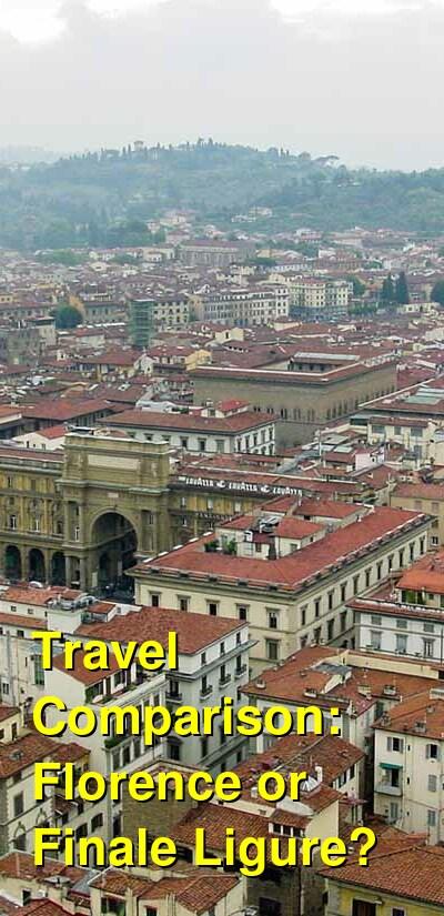 Florence vs. Finale Ligure Travel Comparison