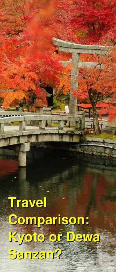 Kyoto vs. Dewa Sanzan Travel Comparison