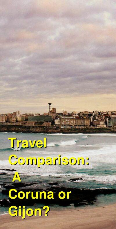 A Coruna vs. Gijon Travel Comparison