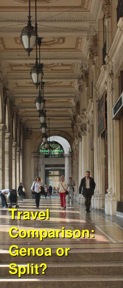 Genoa vs. Split Travel Comparison