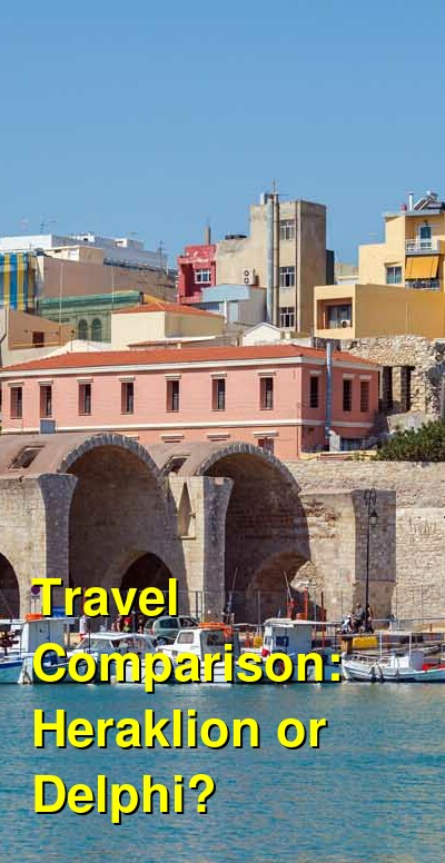Heraklion vs. Delphi Travel Comparison