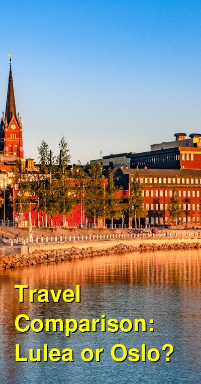 Lulea vs. Oslo Travel Comparison