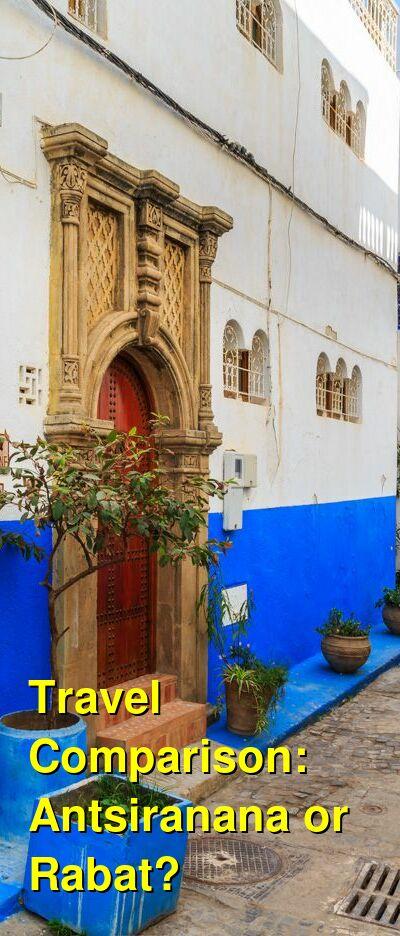 Antsiranana vs. Rabat Travel Comparison