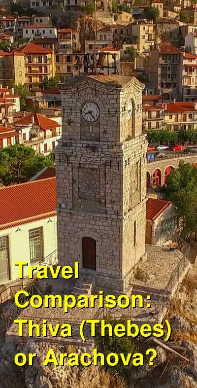 Thiva (Thebes) vs. Arachova Travel Comparison