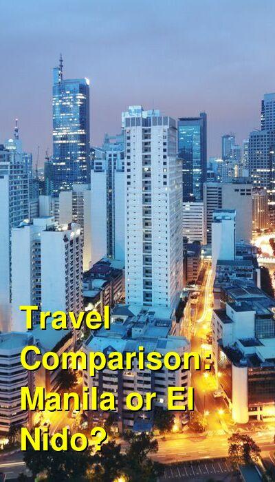 Manila vs. El Nido Travel Comparison