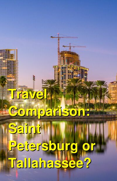 Saint Petersburg vs. Tallahassee Travel Comparison