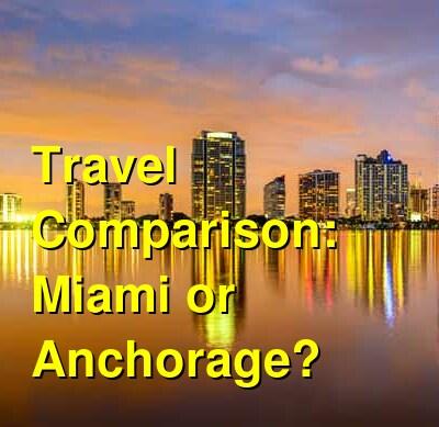 Miami vs. Anchorage Travel Comparison