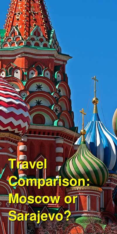 Moscow vs. Sarajevo Travel Comparison