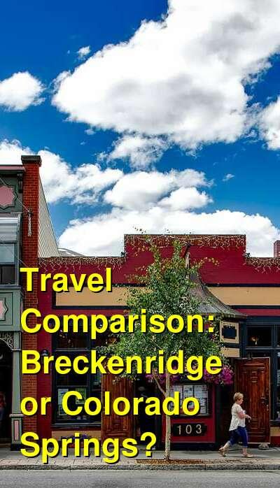 Breckenridge vs. Colorado Springs Travel Comparison