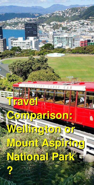 Wellington vs. Mount Aspiring National Park  Travel Comparison