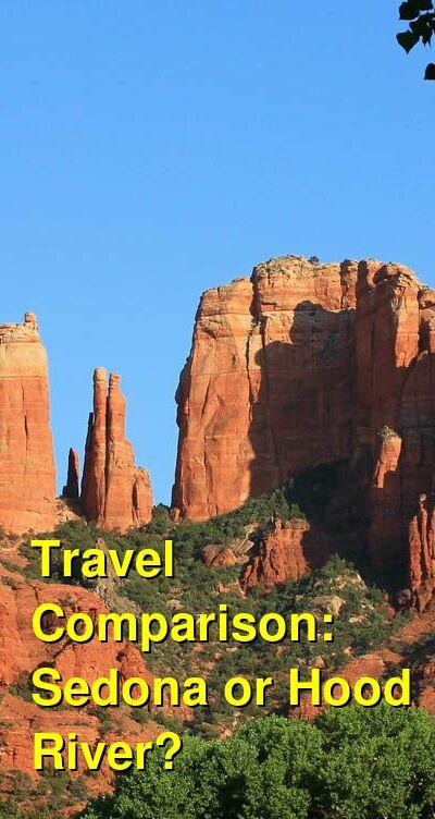 Sedona vs. Hood River Travel Comparison