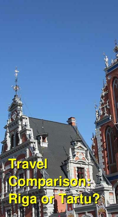 Riga vs. Tartu Travel Comparison